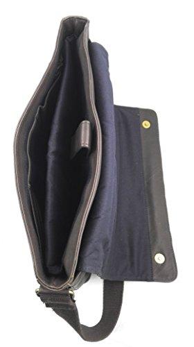 Zerimar Borsa Valigetta realizzata in pelle bovina di alta qualità SALDI- ORA O MAI Più compartimenti Misure: 30X39X9 cms Marron
