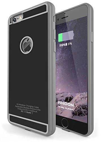 Ricevitore Wireless per iPhone 6s, Rhidon iPhone 6 Custodia di ricarica wireless Qi Flessibile Connettore Lightning