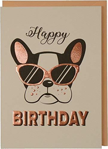 Glückwunschkarte Geburtstag: Donna May Happy Birthday - Hund mit Sonnenbrille