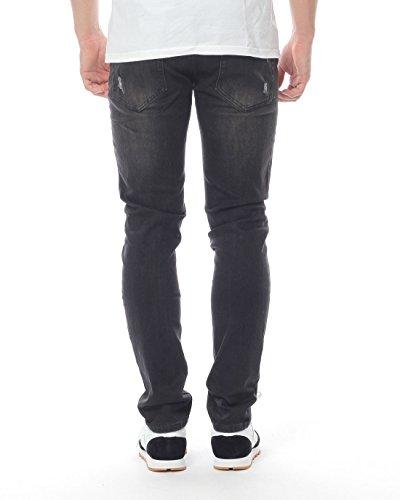 Black Kaviar Homme Jeans / Jeans Straight Fit Koop Noir