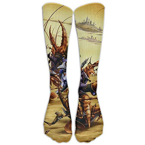 fdgjydjsh Shrimp Soldiers and Crab Generals Athletic Tube Stockings Women Men Classics Knee High Socks Sport Long Sock One Size