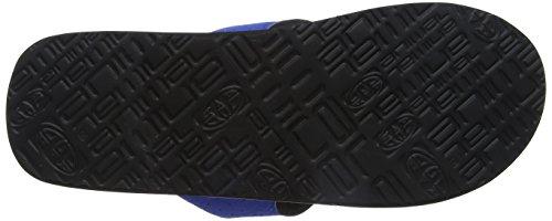 Animal Herren Jekyl Logo Durchgängies Plateau Sandalen, Blau Blau (Victoria Blue)