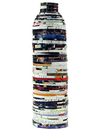 Guru-Shop Upcycling Vase, Papier, Variante: 2, 32x9 cm, Vasen & Blumentöpfe