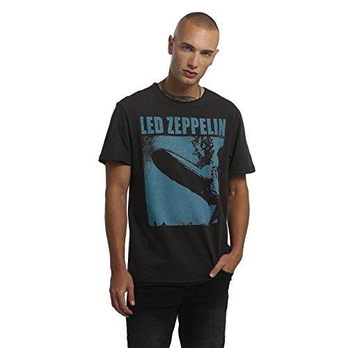 Amplified Herren Oberteile/T-Shirt LED Zeppelin Blimp Square Grau
