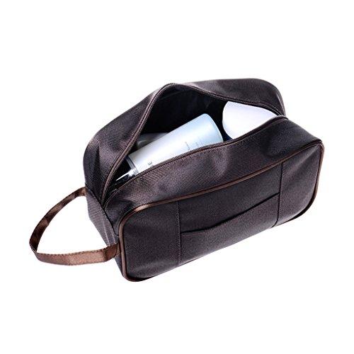 Bao Core Portable Trousse de Toilette Business Imperméable Sac de Rangement Voyage Maquillage Unisexe - Café