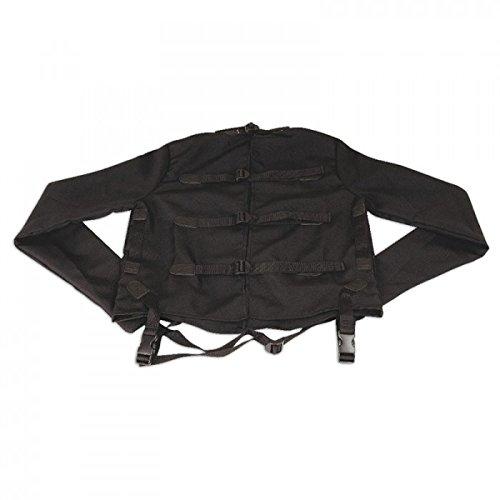 LUX FETISH Zwangsjacke schwarz Größe S/M