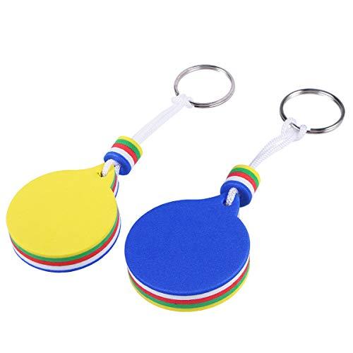 LIOOBO Schwimmender Schlüsselanhänger aus Eva, Schlüsselanhänger, Sicherheits-Schlüsselanhänger für Boote Meeresangeln und Wassersport, buntes Kreis