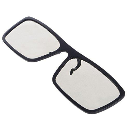 Enyu 3D-Brille zum Anklippen, rund, passiv, polarisiert, für echte 3D-Kinos, 0,22 mm