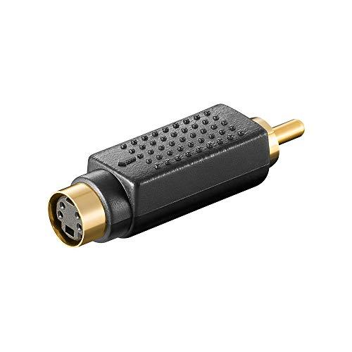 Adapter S-VHS 4 pol. mini DIN Kupplung auf Cinch Stecker -
