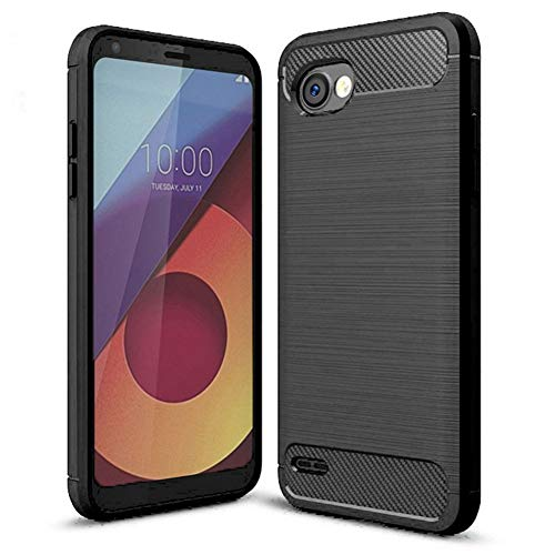 LG Q6Fall, LG G6+ Fall, LG Q6Plus Fall-suensan TPU Stoßdämpfung Technologie erhöhter um Hülle Schutzhülle Case Cover für LG Q6Mini, TPU - Schwarz (Schwarz Und Halloween Weiß Cutouts)