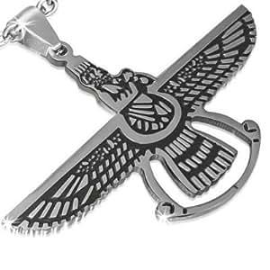 pendentif acier symbole perse Faravahar