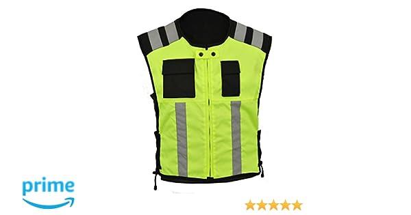 HI Sichtbarkeit Weste Motorrad oder Arbeitssicherheit tr/ägt GearX,