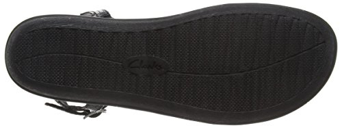 Clarks Manilla Porta Damen Slingback Sandalen Schwarz (Black Leather)