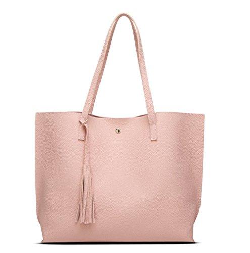 Swallowuk Damen Fashion Retro elegant Shopper-Tasche Handtaschen Umschlag Schulterbeutel (Rosa)