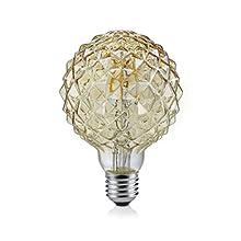 Trio Leuchten 904 479 A +, Bulbs, Glass, 4 Watts, E27, Brown Tint, 9.5 x 9.5 x 13.5 cm