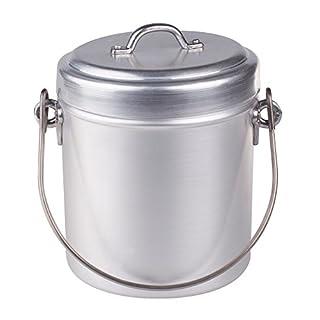 Pentole Agnelli Family Cooking Aluminium Milk Pot Opaque Finish with Lid, Diameter 14 cm, Silver