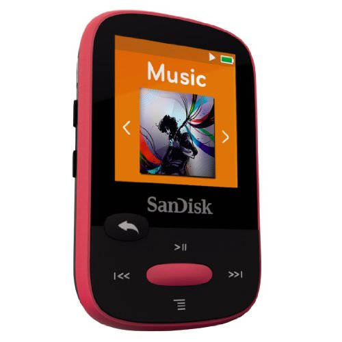 SanDisk Sansa Clip Sport Lettore MP3 8 GB, Rosa