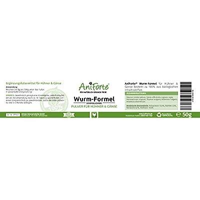 AniForte Wurm-Formel 50 g- Naturprodukt für Hühner, Gänse und Grossvögel von Görges Naturprodukte GmbH - Du und dein Garten