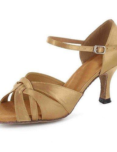 ShangYi Chaussures de danse(Noir / Autre) -Personnalisables-Talon Personnalisé-Similicuir-Latine champagne