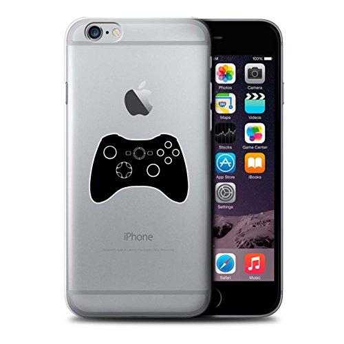 Stuff4 Hülle / Case für Apple iPhone 6+/Plus 5.5 / Schwarz Gameboy Muster / Spielsteuerung Kollektion Schwarz Xbox 360