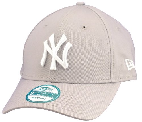 New Era 9forty Strapback Cap MLB New York Yankees #2506, One-size-fitts-all, Weiss/Grau / New-York-Yankees