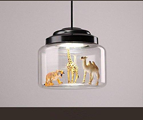 GBT Restaurant Wohnzimmer Kinderzimmer Persönlichkeit Tier Modell Glas Kronleuchter (Led-Leuchten, Warmes Licht, Weißes Licht, Kronleuchter, Innenbeleuchtung, Außenleuchten, (Beine Tier Kostüme)