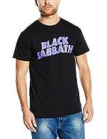 Black Sabbath Men's Wavy Logo Vintage Short Sleeve T-Shirt
