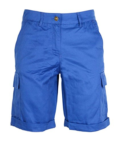 Noroze - bermuda chino combat modello cargo, da donna, in cotone royal blue xl