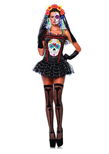 Leg Avenue 85347 - Kostüm für Erwachsene, Größe M, (Kostüme Erwachsenen Sugar Skull)