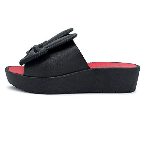 Polliwoo  Women's Sandals, Sandales fille femme mixte adulte Noir