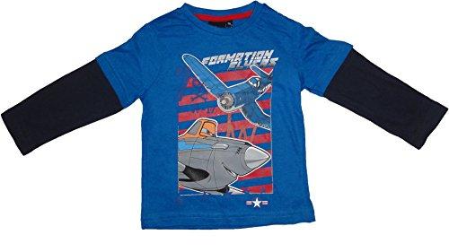 Disney Pixar Planes Langarmshirt in Blau, Hellblau oder Grau Gr. 98, 104, 116, 128 Hellblau