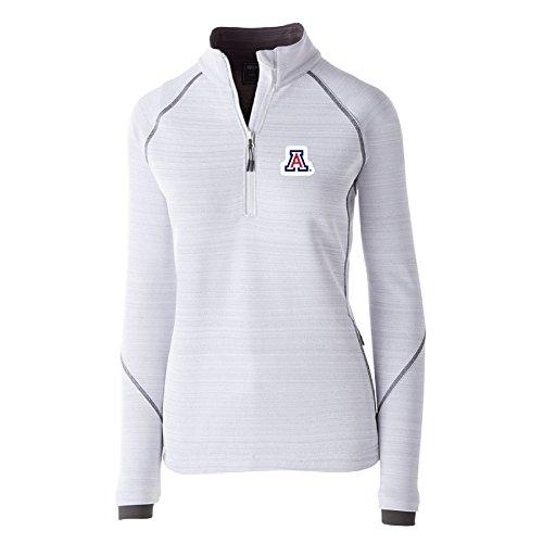 Ouray Sportswear NCAA Arizona Wildcats Women's Deviate Pullover Jacket, White, Small