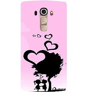 Casotec Sweet Love Design Hard Back Case Cover for LG G4