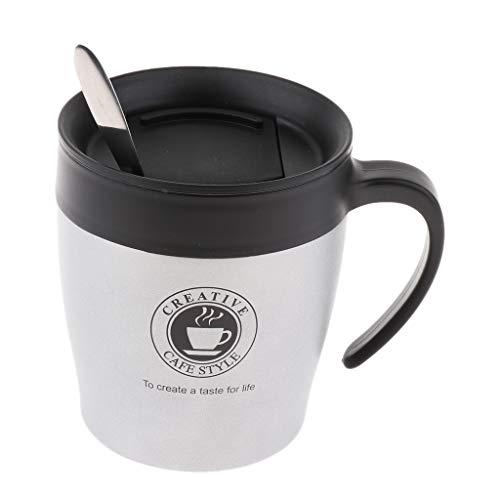 SM SunniMix Thermotasse Kaffeetasse Kaffeebecher Thermobecher - Grau