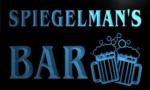 w044890-b SPIEGELMAN Name Home Bar Pub Beer Mugs Cheers Neon Light Sign Barlicht Neonlicht Lichtwerbung