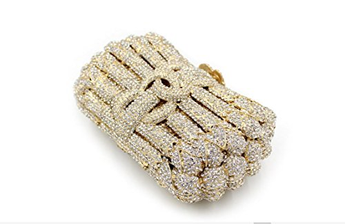 Dinner-Paket Europa und den Vereinigten Staaten Stil aristokratischen Tasche Handtasche Paket Diamantpaket 4 Farbe Gold