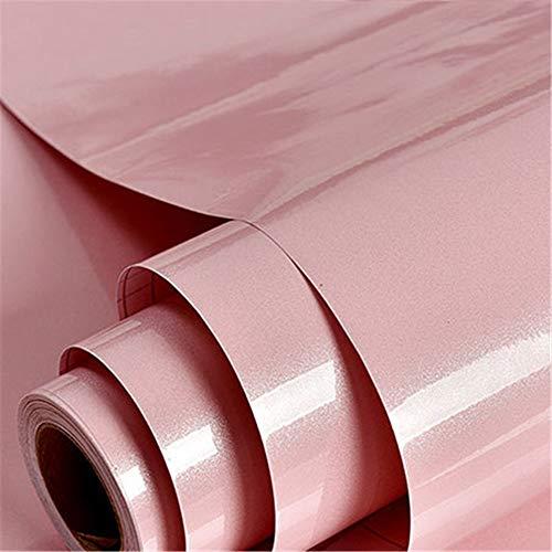 KYKDY Moderne Vinyl-Marmor-Sticker-Rolle selbstklebende Tapeten Möbel Deskstop Schrank Schrankwände Tapeten, Pink, 3 Quadratmeter