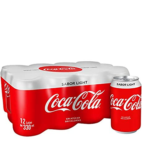 Coca Cola Light Refresco con gas de cola 330 ml Pack de 12 Lata