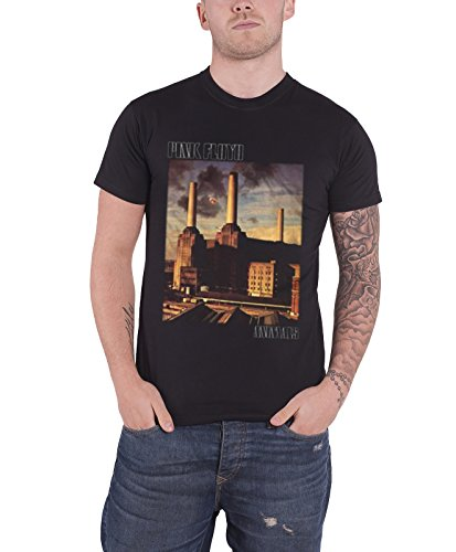 Pink Floyd T Shirt Animals Classic Album Cover Band Logo offiziell Herren Nue (Band Altes Shirt Musik Logo)