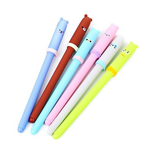 display08Cute Cartoon Tier Expression Pen Gel kawaii Büro Schulbedarf-6(unterschiedliche Farbe) (Schöne Mädchen Asiatische)