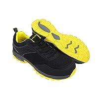 Goodyear Workwear GYSHU1532 Mens Lightweight Work Safety Sporty Athletic Trainer Non Metallic Composite Toe Cap & Midsole S1P/SRA/HRO, Black, UK 10/EU 44