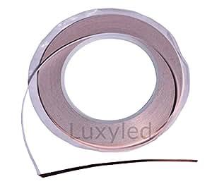 Feuille de cuivre 30 m x 3 mm d'épaisseur autocollant ruban en cuivre abschirmband kupferblech ruban adhésif cuivre