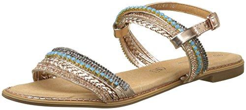 The Divine Factory Women's Adina Sling Back Sandals, Beige (Champagne 007), 5 UK 5 UK