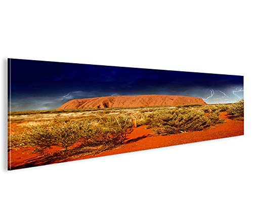 Ayers Rock (islandburner Bild Bilder auf Leinwand Ayers Rock V2 Australien Panorama XXL Poster Leinwandbild Wandbild Dekoartikel Wohnzimmer Marke)