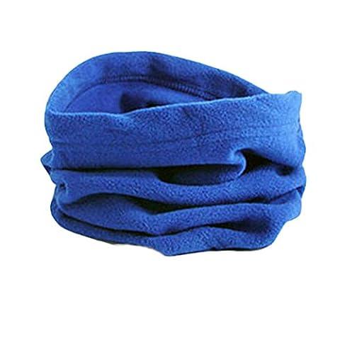 Bluelans® Unisex Mens Ladies Super Soft Fleece Snood. Scarf, Hat, Neck Warmer Garter, Hood, Balaclava for Skiing, Hiking (Blue)