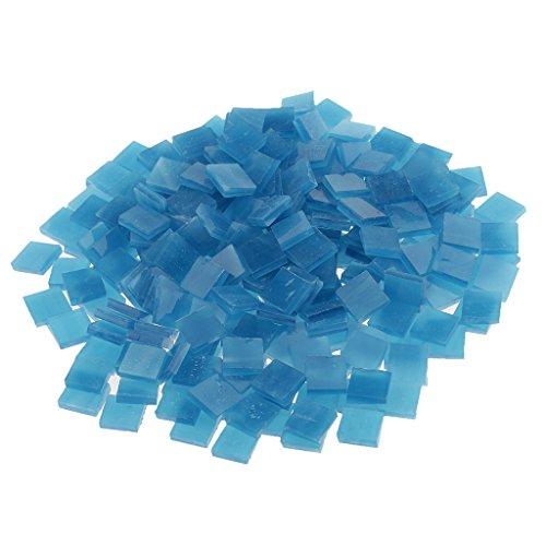MagiDeal 250 Stück Fliesen Mosaik Mosaikfliese Quadrat Bad Pool Glas - Blauer See -