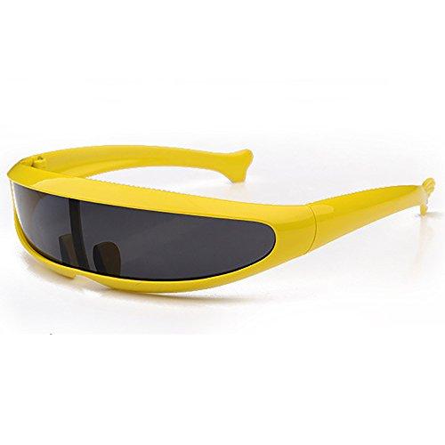 SHEEN KELLY Futuristisch das schild sonnenbrille gespiegelt visier engen zyklopen für cosplay neuheit partei schild Spiegel Kinder