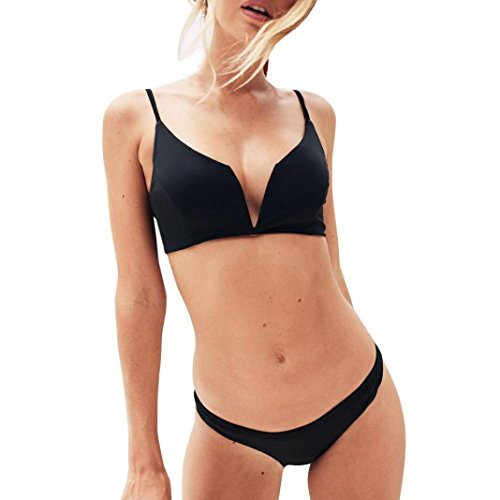 Kanpola Bikini Damen Set Gepolstert Oberteil Push up Bikini-Set Badeanzüge Tankini Bademode (Super Pack Bettwäsche-set)