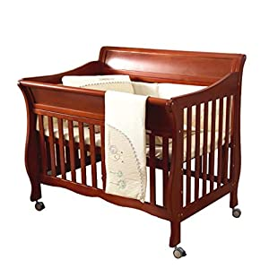 DUWEN-Cot bed Solid Wood Multifunction Baby Cot European Style Cot Bed Toddler Bed Splicing Bed With Wheel (color : BROWN)   8