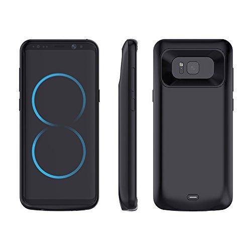 KRANICH Akku Hülle für Samsung Galaxy S8 5000 mAh Zusatzakku Externer Akku Batterie Battery Schutzhülle Akkuhülle Case Cover Deckel Aufladbare Powerbank
